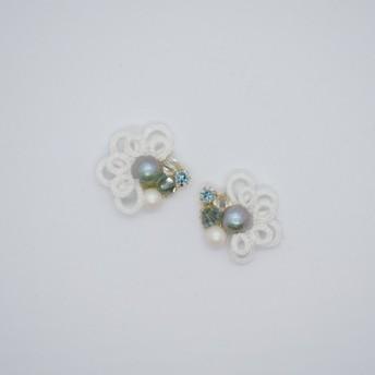 Bouquet earrings タティングレース