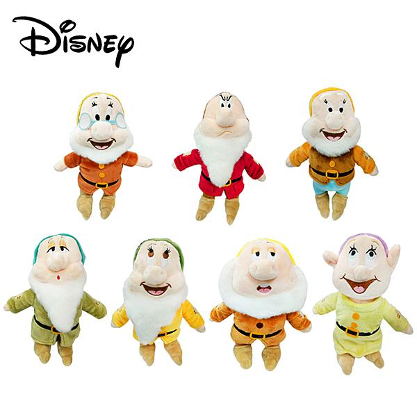 【正版授權】七矮人 絨毛玩偶 娃娃 玩偶 擺飾 七個小矮人 白雪公主 迪士尼 Disney 007217-007279