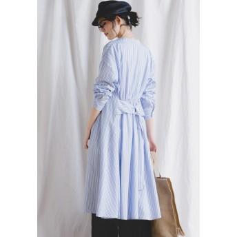 MAYSON GREY 【socolla】ウエストベルト付き2WAYシャツワンピース ワンピース,ブルー系その他