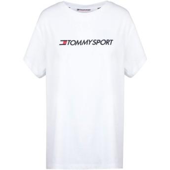 《セール開催中》TOMMY SPORT レディース T シャツ ホワイト XS コットン 60% / ポリエステル 40% COTTON MIX CHEST LOGO
