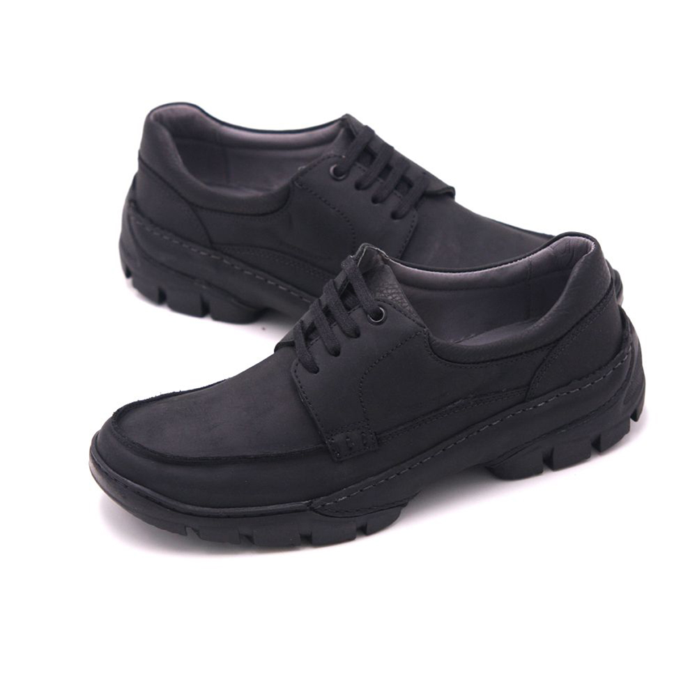 SAPATOTERAPIA 巴西真皮雙拼接時尚休閒鞋 男鞋 黑