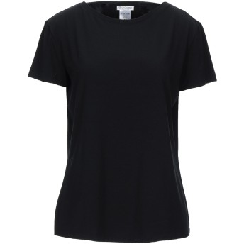 《セール開催中》GRAN SASSO レディース T シャツ ブラック 48 コットン 70% / レーヨン 20% / ポリウレタン 10%