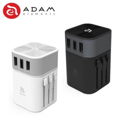 ADAM 亞果元素 OMNIA T3 多功能六合一 充電器 Type-C 萬國旅充 可拆式轉接頭 充電器