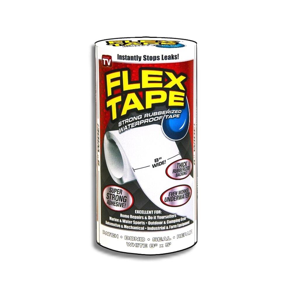 美國FLEX TAPE強固型修補膠帶 8吋特寬版(白色)<美國製>