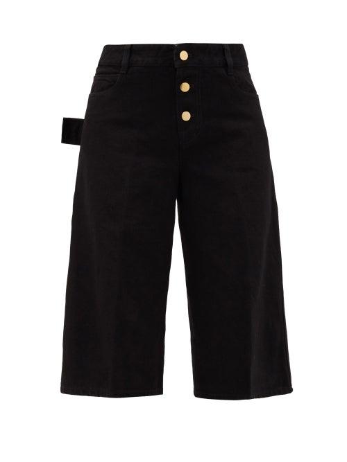 Bottega Veneta - High-rise Denim Shorts - Womens - Black