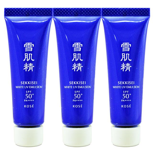 【KOSE 高絲】雪肌精光感澄皙UV柔膚乳 SPF50+PA++++ 10g*3入