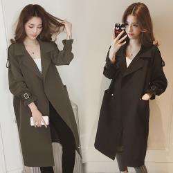 韓國K.W. (預購) 百搭造型風衣形外套