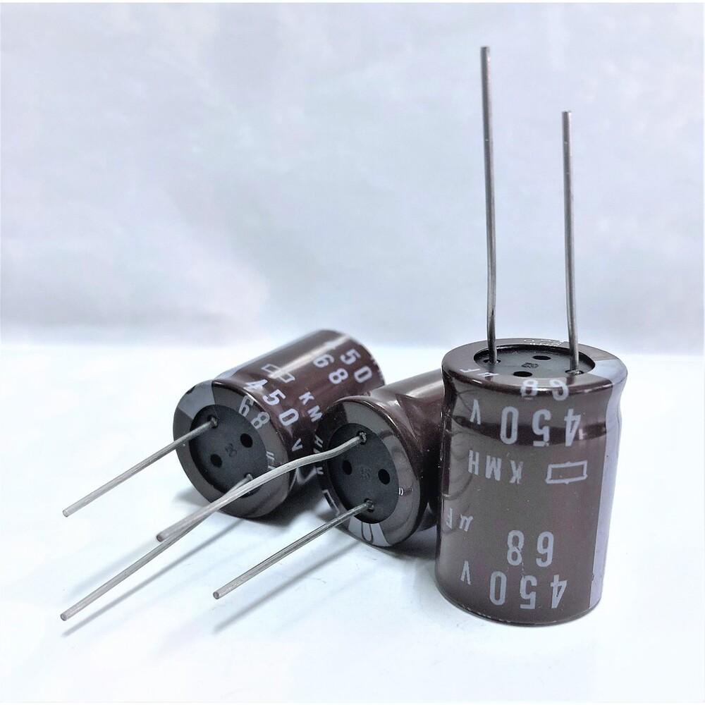 日本 ncc kmh 電解電容 68uf 450v 尺寸:22x30 濾波電容