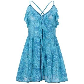 《セール開催中》POUPETTE ST BARTH レディース ミニワンピース&ドレス アジュールブルー S コットン 100%