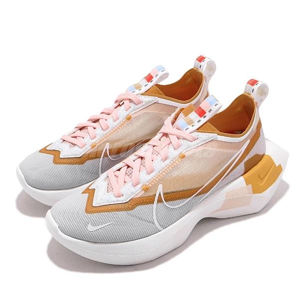 Nike 休閒鞋 Wmns Vista Lite SE 白 橘 女鞋 厚底 老爹鞋 透明鞋面設計 【ACS】 CJ1649-001