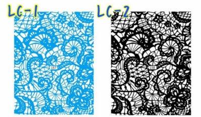 【咪兔醬小舖】 美甲光療材料 美甲貼紙 日本同部超夯 蕾絲 背膠貼紙『LC』