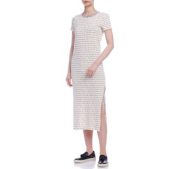 【60%OFF】スラブボーダー ニット ドレス クリームマルチ xs