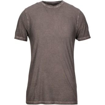 《セール開催中》KANGRA CASHMERE メンズ T シャツ ココア 48 コットン 100%