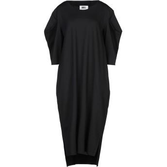 《セール開催中》MM6 MAISON MARGIELA レディース 7分丈ワンピース・ドレス ブラック XS レーヨン 64% / ナイロン 31% / ポリウレタン 5%