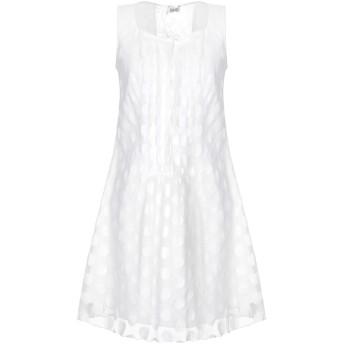 《セール開催中》LIU JO レディース ミニワンピース&ドレス ホワイト 42 ナイロン 60% / コットン 40% / ポリエステル