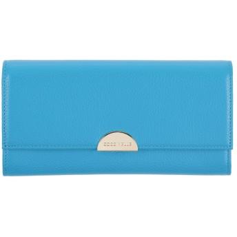 《セール開催中》COCCINELLE レディース 財布 ターコイズブルー 牛革(カーフ)