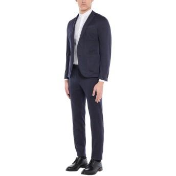 《セール開催中》MANUEL RITZ メンズ スーツ ダークブルー 50 コットン 44% / ウール 39% / ナイロン 14% / アクリル 2% / 指定外繊維 1%