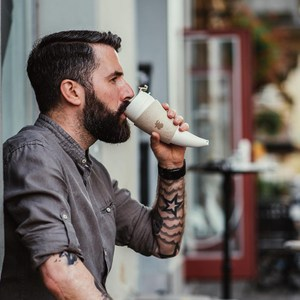 Goat Mug 16oz山羊角咖啡杯酒紅