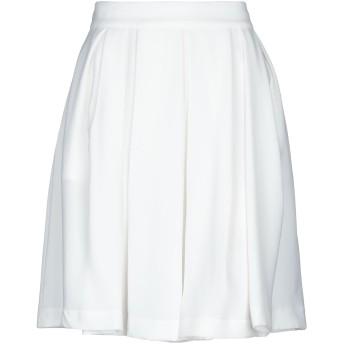 《セール開催中》TRE PIUME レディース ひざ丈スカート ホワイト 46 レーヨン 60% / ポリエステル 40%