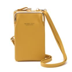 【L.Elegant】時尚復古環扣手機長夾拉鏈零錢包(共三色)B859