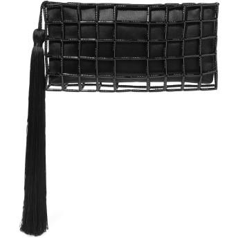 《セール開催中》CAROLINA SANTO DOMINGO レディース ハンドバッグ ブラック 紡績繊維