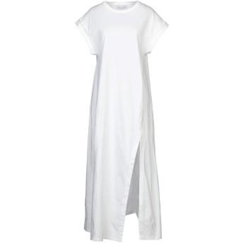 《セール開催中》WEILI ZHENG レディース ロングワンピース&ドレス ホワイト XS コットン 100%