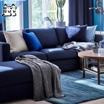 【IKEA Original】INGRUN ベッドカバー ひざ掛け グレー 130x170 cm