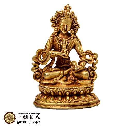 (格林)十相自在 金剛薩埵小佛像 金色法像 dorje sempa
