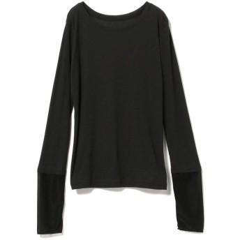 【55%OFF】 ビームス ウィメン Ray BEAMS / ソフト テレコ カフス キリカエ Tシャツ レディース BLACK ONESIZE 【BEAMS WOMEN】 【タイムセール開催中】