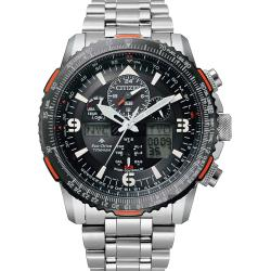 CITIZEN 星辰 光動能電波 鈦金屬航空手錶 JY8109-85E