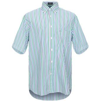 《セール開催中》PAUL & SHARK メンズ シャツ グリーン 42 コットン 100%