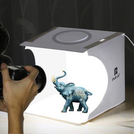 攝影棚 迷你燈箱小型背景紙環形LED燈可攜式折疊淘寶珠寶小飾品補光拍攝臺室內靜物打光照相拍照道具器材『CM2055』