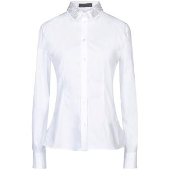 《セール開催中》FRANKIE MORELLO レディース シャツ ホワイト XS コットン 96% / ポリウレタン 4%