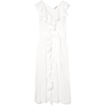 《セール開催中》THREE GRACES LONDON レディース ロングワンピース&ドレス ホワイト 10 リネン 100%