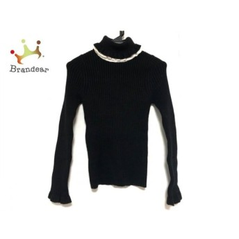 エミリアウィズ Emiria Wiz 長袖セーター サイズF レディース 黒×白 タートルネック 新着 20200311