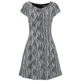 《セール開催中》GLAM BY BABYLON レディース ミニワンピース&ドレス ブラック 44 コットン 98% / ポリウレタン 2% / ポリエステル