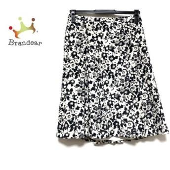 マックスマーラスタジオ スカート サイズ40 M レディース 美品 アイボリー×黒×ダークグレー 新着 20200311
