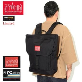 マンハッタンポーテージ リュック Manhattan Portage 20SS NYC プリント ワシントン SQ バックパック ブラック/レッド 限定 (MP1220NYC20SS)