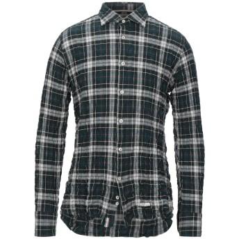 《セール開催中》TINTORIA MATTEI 954 メンズ シャツ ディープジェード 43 コットン 97% / ポリエステル 3%