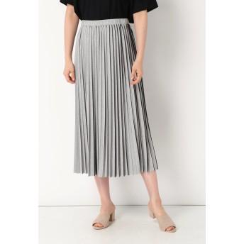 blancvert blancvert / ブランベール ツートンプリーツスカート その他 スカート,グレー×ブラック