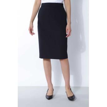 BOSCH [ウォッシャブル]2WAYツイルセットアップスカート ひざ丈スカート,ネイビー