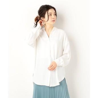 【アルシーヴ】スタンドカラーBIGシャツ