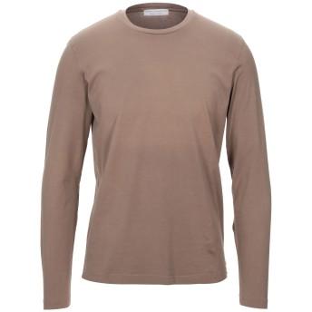 《セール開催中》FILIPPO DE LAURENTIIS メンズ T シャツ カーキ 48 ウール 100%