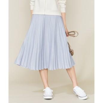 【クミキョク/組曲】 【Oggi2月号掲載】ポリエステルハイゲージ ニットプリーツスカート