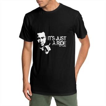 ビル・ヒックス-ただの乗り物 Bill Hicks - It's Just A Ride メンズ 半袖 Tシャツ 綿 丸襟 柔らかい 快適 吸汗速乾 夏季対応 人気おしゃれ Tシャ
