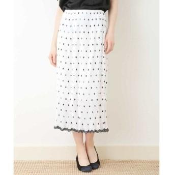 TARA JARMON / タラジャーモン 刺繍プリーツスカート【洗える】