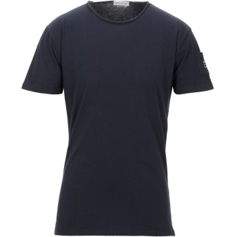 《セール開催中》DANIELE ALESSANDRINI HOMME メンズ T シャツ ダークブルー M コットン 100%