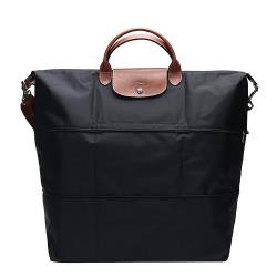 LONGCHAMP 手提斜背二用旅行袋(可加大款)(黑色) L1911 089 001