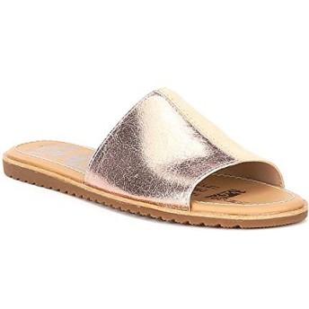[ソレル] シューズ サンダル Ella Block Leather Slide Sandals Natural Ta レディース [並行輸入品]
