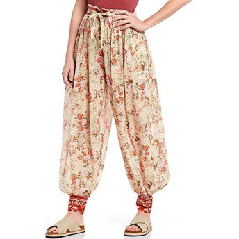 Free People(フリーピープル) ボトムス カジュアルパンツ Picnic Partay Floral Print Ankle Embroid Tea Combo レディース [並行輸入品]